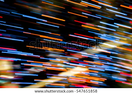 Abstract background of Blurry colorful of motions LED lights #547651858