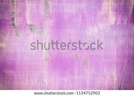 Abstract background of brightly pink color. Stains and streaks of rust. A bright picture. #1134752903