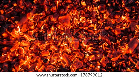 abstract background of burning coals #178799012