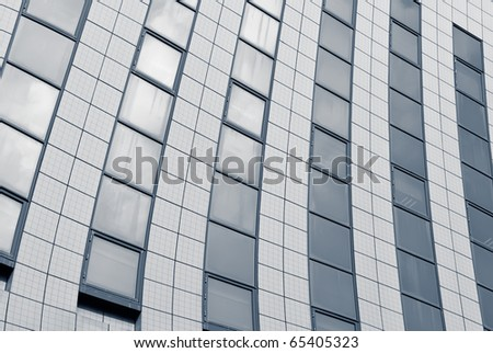 Abstract background of business office buildings exterior.
