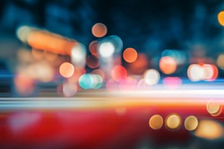 Abstract background of city street in bokeh