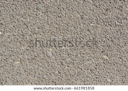 Abstract background of closeup dark uneven asphalt #661981858