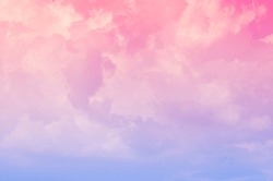Abstract background of clouds in clusters of blue sky and pastel