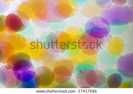 abstract background of colored bubbles
