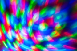 Abstract background of colored lights in a motion