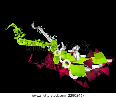 abstract background of colorful lights Stock foto ©