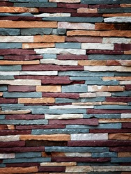 Abstract background of colorful stone wall texture