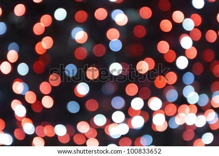 abstract background of defocused christmas light - stock photo