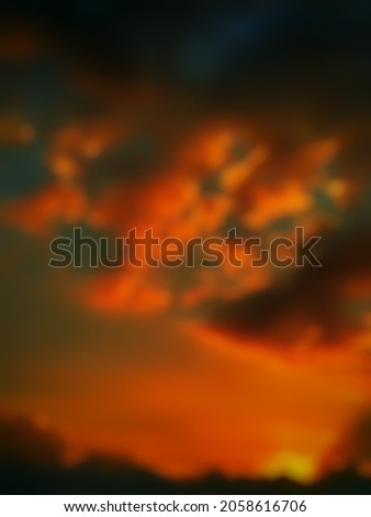 abstract background of defocused sunset atmosphere