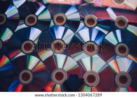 abstract background of disks with neon glow