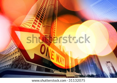 Abstract background of Downtown Los Angeles, California, USA