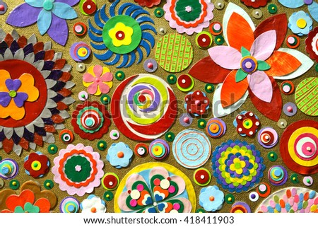 abstract background of flowers. ...