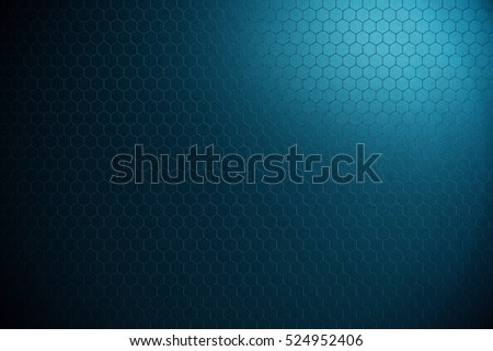 Abstract background of futuristic surface with hexagons. 3d rendering