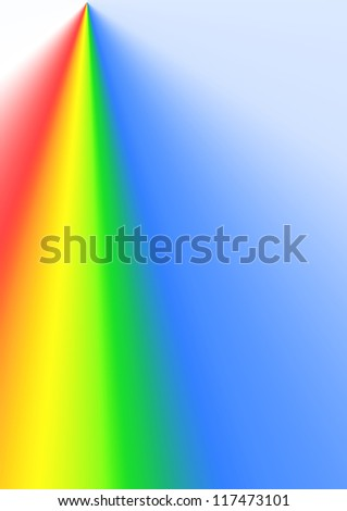 abstract background of glowing color spectrum around lightning