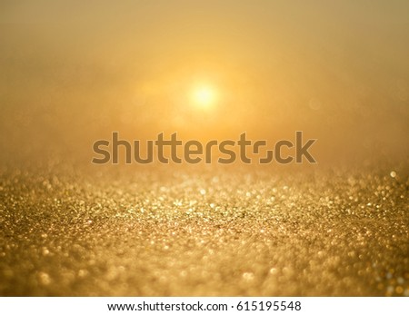 abstract background of gold bright summer sunset sky background. #615195548