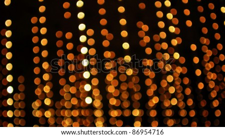 Abstract Background of Hanging Defocused Lights