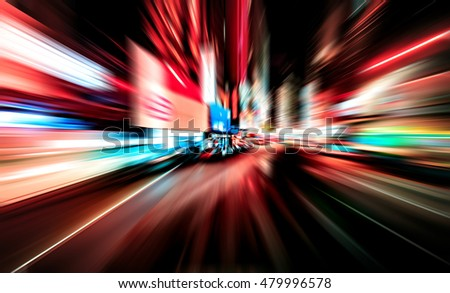 Abstract background of high speed traveling in city #479996578