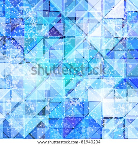 abstract background of ice triangles