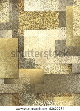 abstract background of layers of brown and beige in warm golden tones and texture collage