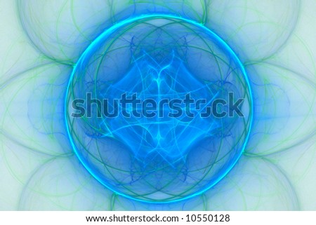 Abstract background of light blue and green colored sphere