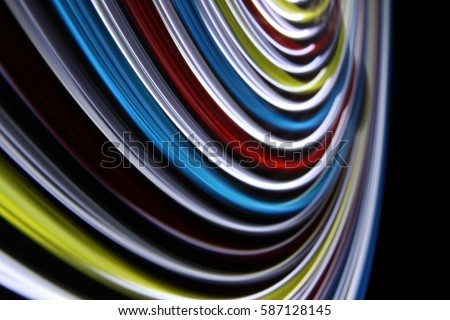 Abstract background of light trails on long exposure shot.