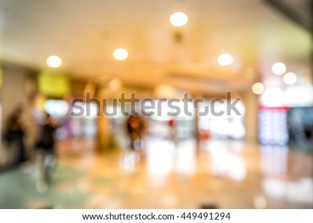 Abstract background of modern shopping mall in Asia #449491294