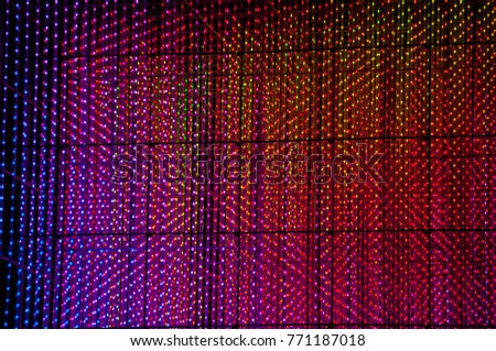Abstract background of multicolored halogen light bulbs #771187018