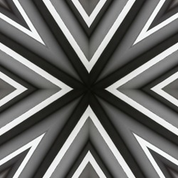 abstract background of pattern of a kaleidoscope. Black, white and grey lines background fractal mandala. abstract kaleidoscopic arabesque. geometrical ornament pattern