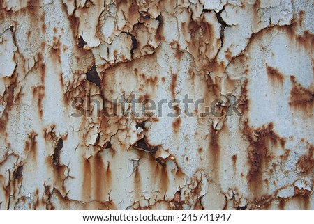 Abstract background of rusted metal surface #245741947
