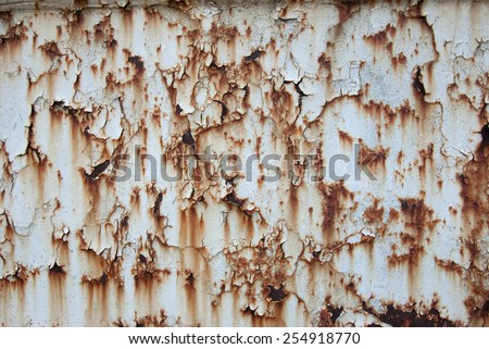 Abstract background of rusted metal surface #254918770