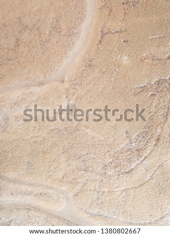 Abstract background of sand under ice. #1380802667