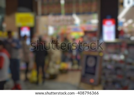 Abstract background of shopping market 24 hour service in Osaka Japan #408796366