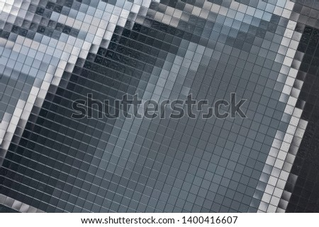 Abstract background of squares. Solar battery on the spacecraft. Background Texture