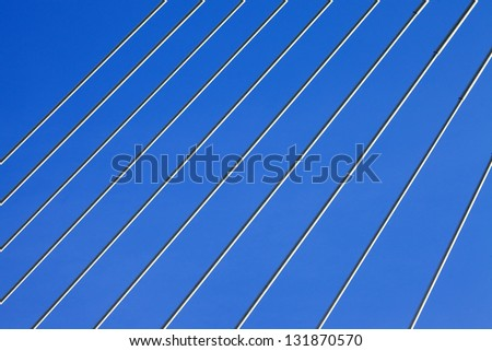 Abstract background of steel cables