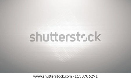 Stock Photo Abstract background of technology network. Abstract lines cubes and flicker dots linking network. Latest website trends. Page background design. Android material design