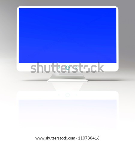 Abstract background of TV monitor, 3d illustration - stock photo