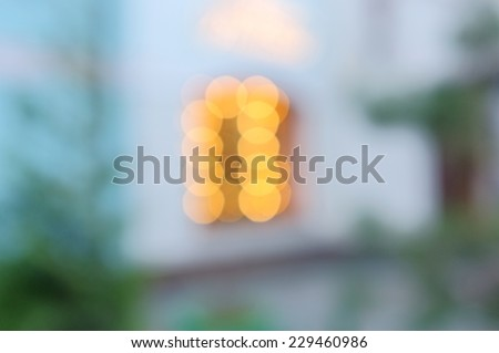 Abstract background of unfocused shop window lights.  Blurred xmas backdrop.