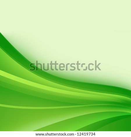 Abstract background of wavy green strips - stock photo