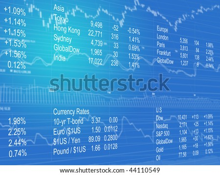 Abstract Background of World Currencies