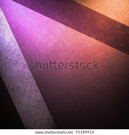 abstract background or pink paper striped background layout design with modern art background of white and dark red ribbons on vintage grunge background textured paper and black background border - stock photo