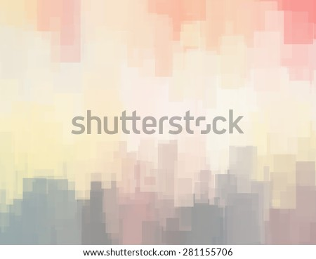 Abstract background or texture with geometric objects in soft pastel colors
