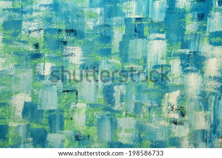 Abstract background paint circles roll style on the cement wall.