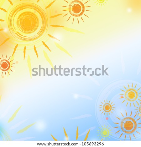 abstract background - paint suns over gradient