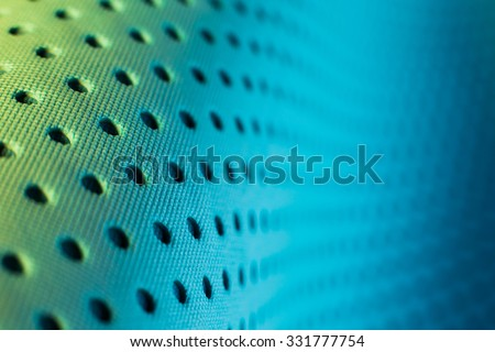 Abstract background pattern of blue yoga mat.