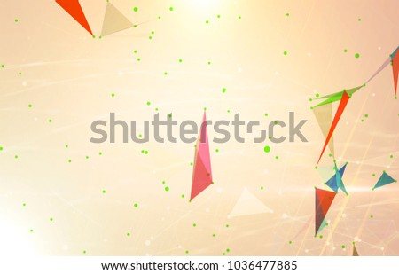 Abstract background polygonal. Bright gold digital illustration with triangles.