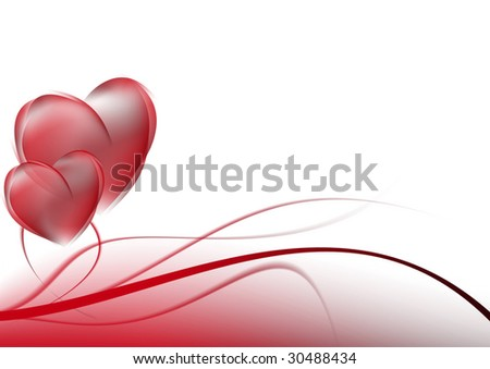 stock photo abstract background red curves Wedding card