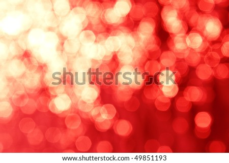Abstract background, red magic lights, bokeh.