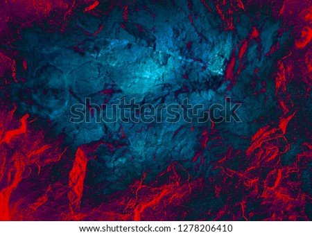 Abstract background. Rock texture. Mysterious stranger wall. Stone background. Lava surface. Stone texture. Fantasy wallpaper. Cosmic sky Galaxy. Gloomy mysterious background #1278206410