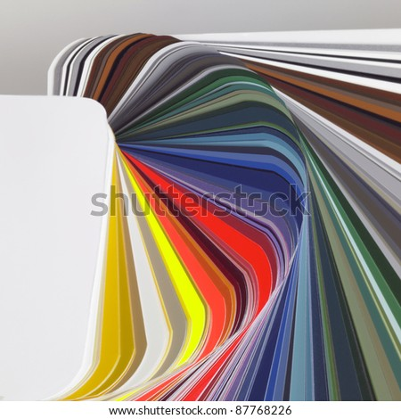 abstract background showing a spread color chart