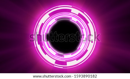 Abstract background techno circles tunnel